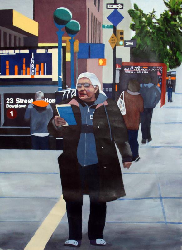 New York motiv af Inge Nygaard
