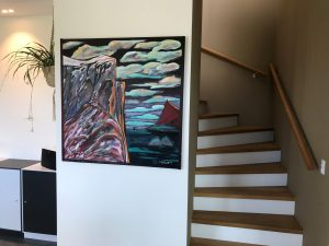Jens Kampmann tone i tone med trappeopgang