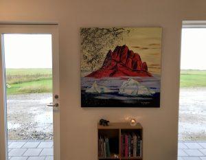 Jens Kampmanns rød Uummannaq værk som grønlandica hjørne