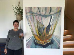 Yvonne Lundehøj værk i spisestuen