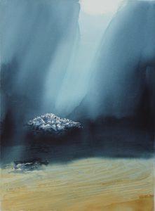 Akvarel af Birgitta Steen