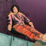 Akryl på lærred. 120 x 120 cm. 12.500 kr.